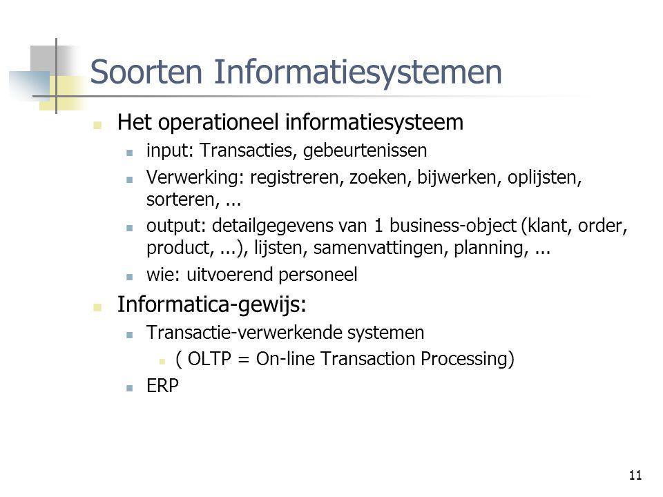 Soorten Informatiesystemen