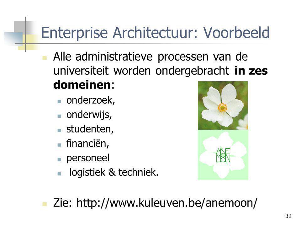 Enterprise Architectuur: Voorbeeld