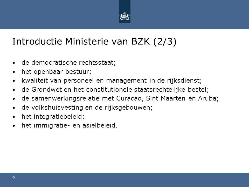 Introductie Ministerie van BZK (2/3)