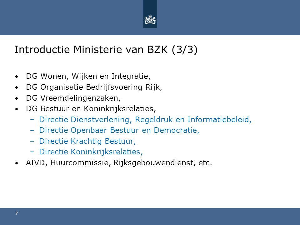 Introductie Ministerie van BZK (3/3)