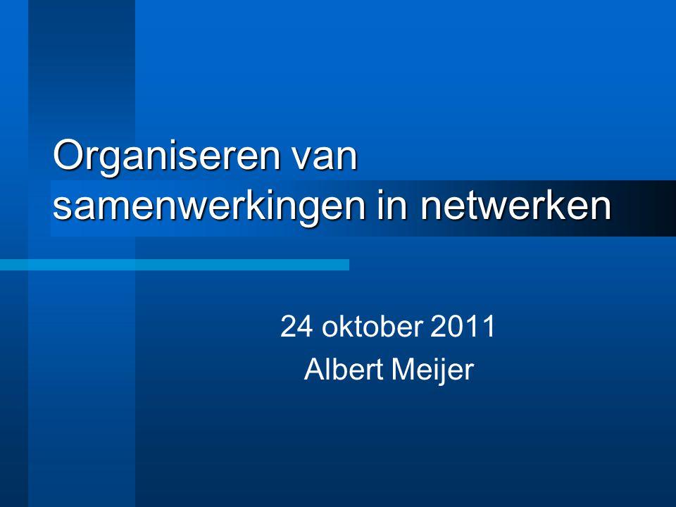 Organiseren van samenwerkingen in netwerken