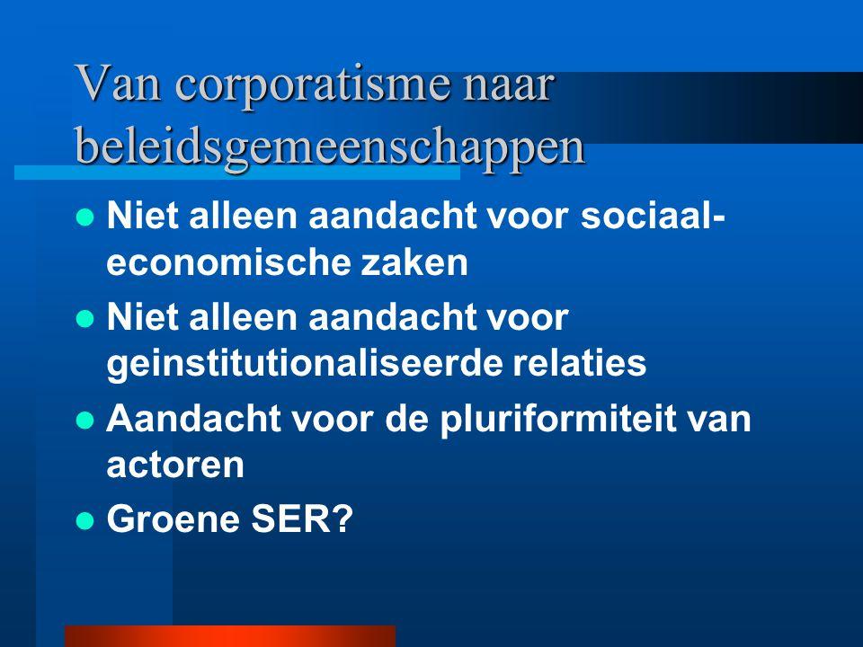 Van corporatisme naar beleidsgemeenschappen