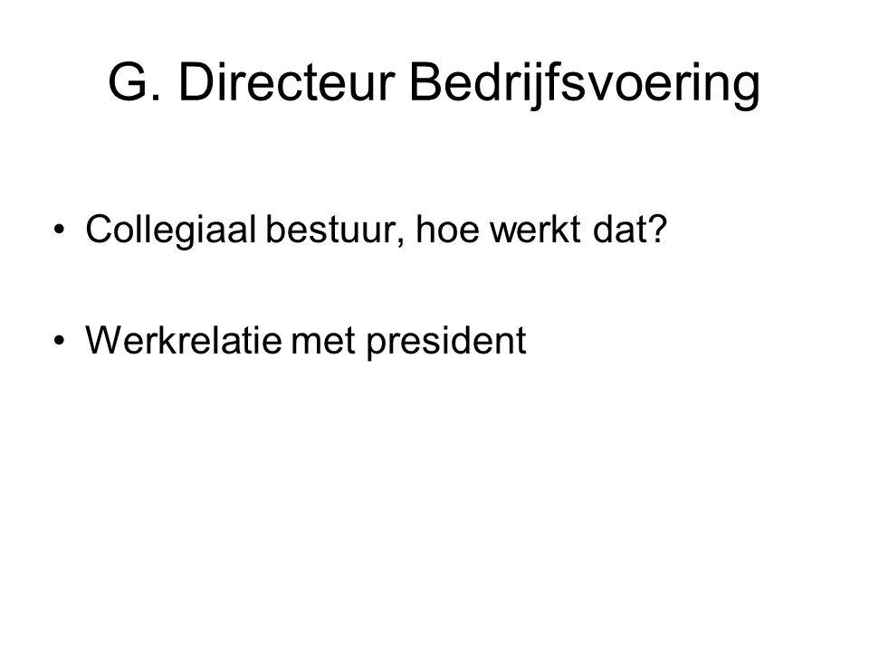G. Directeur Bedrijfsvoering