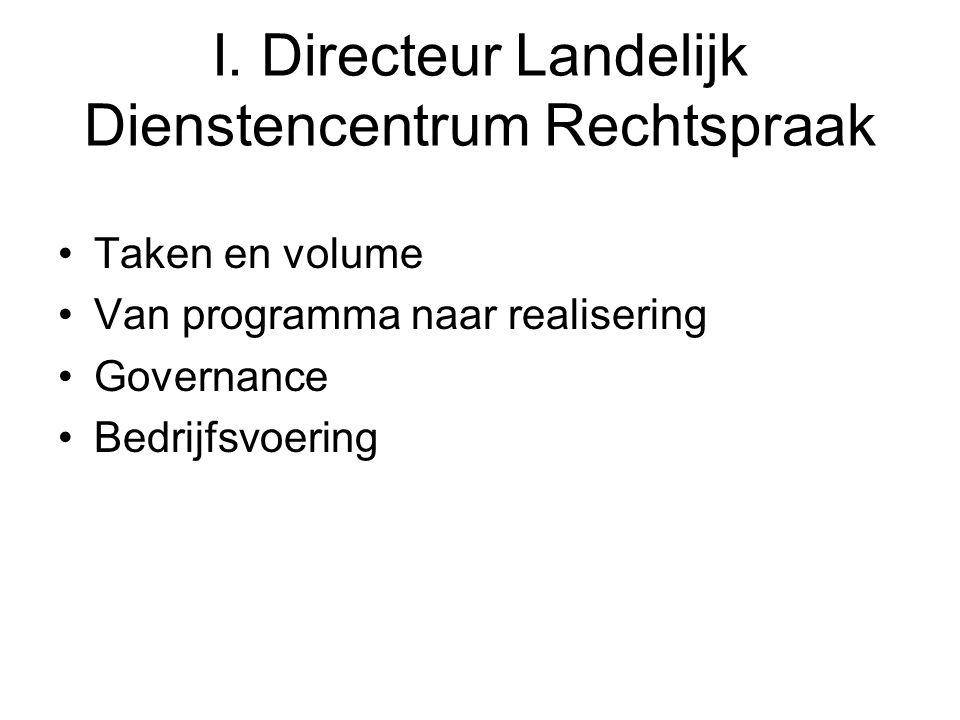 I. Directeur Landelijk Dienstencentrum Rechtspraak