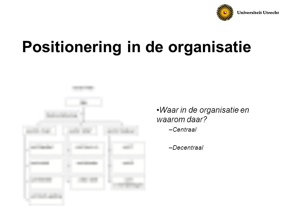 Positionering in de organisatie