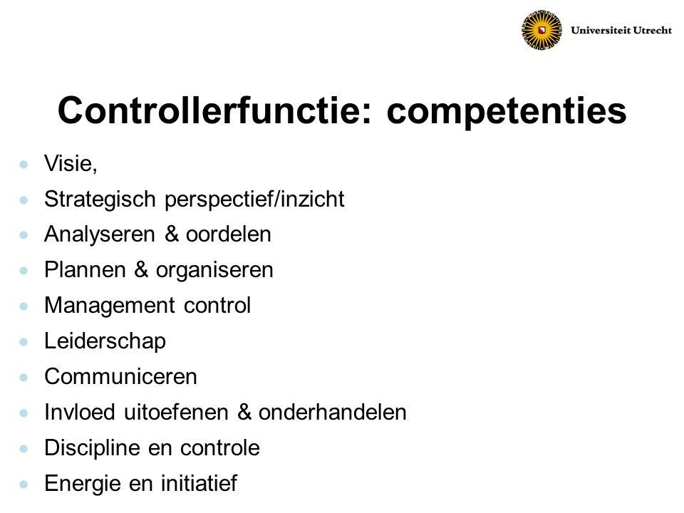 Controllerfunctie: competenties