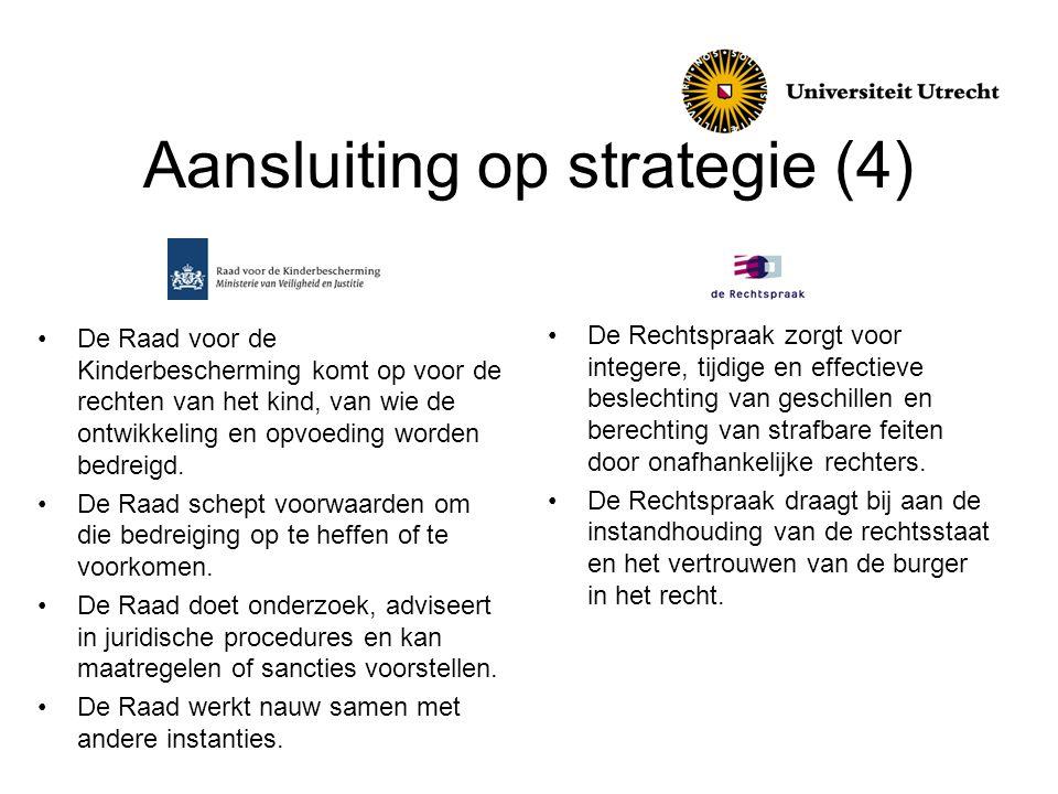 Aansluiting op strategie (4)