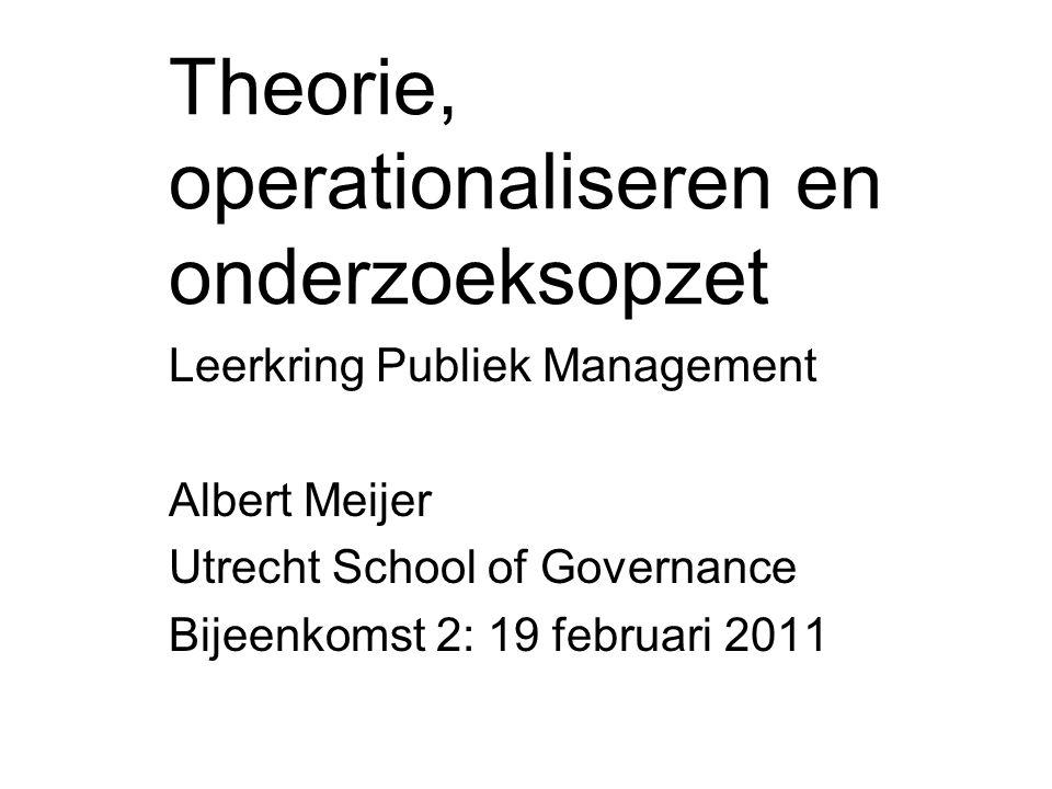 Theorie, operationaliseren en onderzoeksopzet