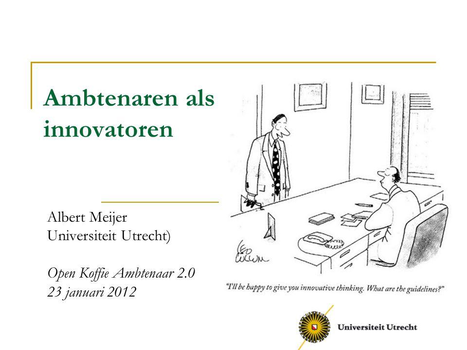 Ambtenaren als innovatoren