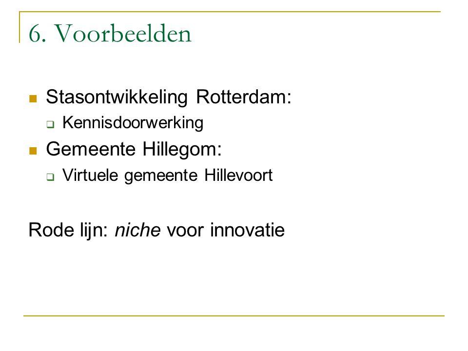 6. Voorbeelden Stasontwikkeling Rotterdam: Gemeente Hillegom: