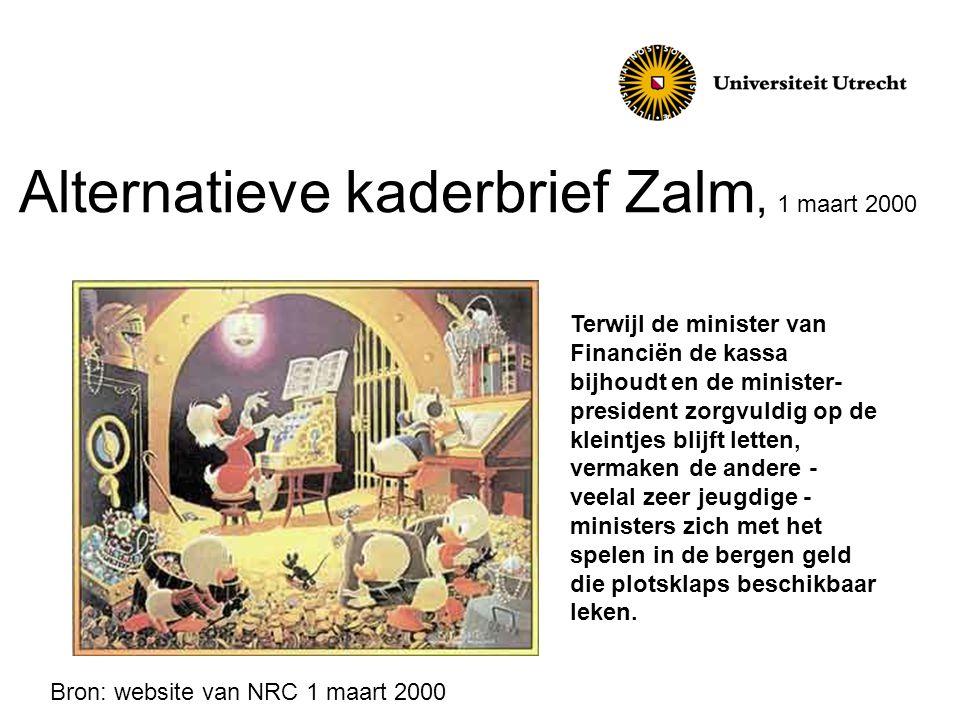 Alternatieve kaderbrief Zalm, 1 maart 2000