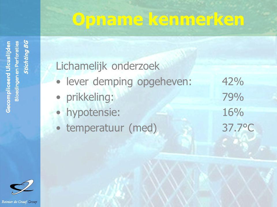Opname kenmerken Lichamelijk onderzoek lever demping opgeheven: 42%