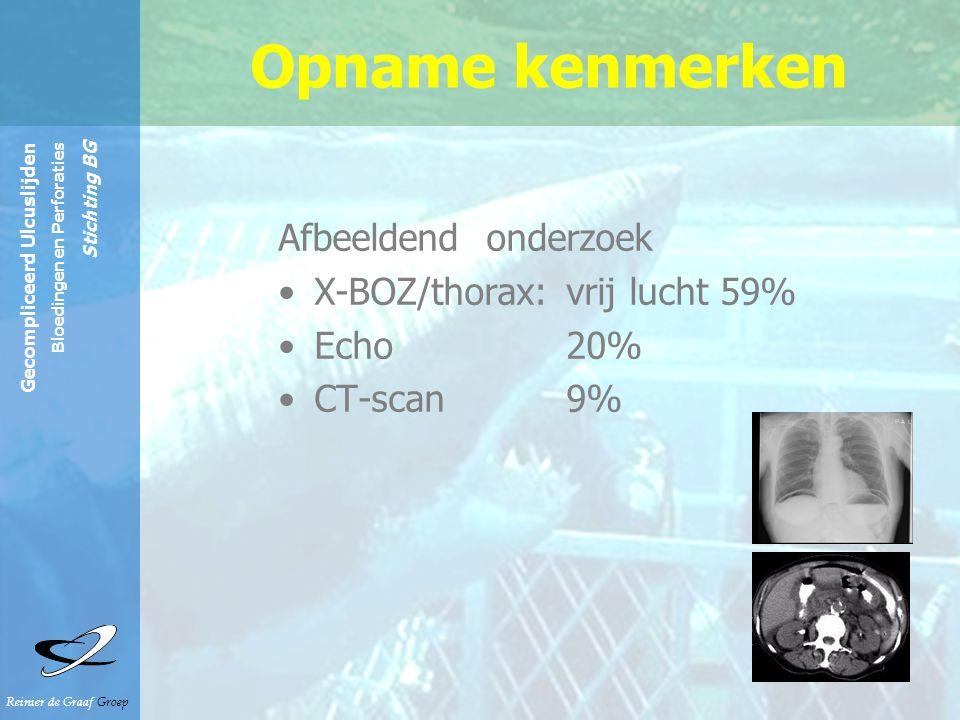 Opname kenmerken Afbeeldend onderzoek X-BOZ/thorax: vrij lucht 59%