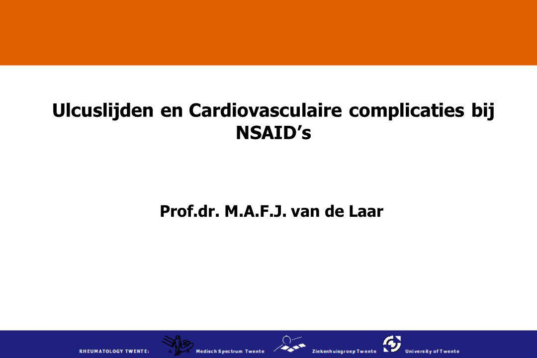 Ulcuslijden en Cardiovasculaire complicaties bij NSAID's