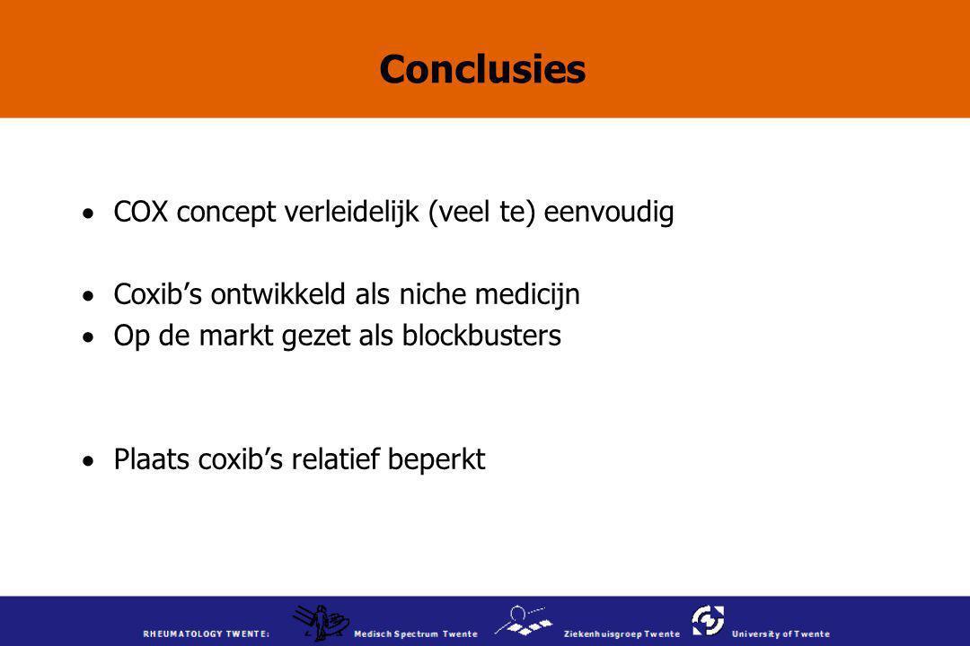 Conclusies COX concept verleidelijk (veel te) eenvoudig