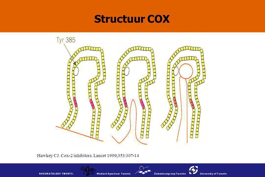 Hawkey CJ. Cox-2 inhibitors. Lancet 1999;353:307-14