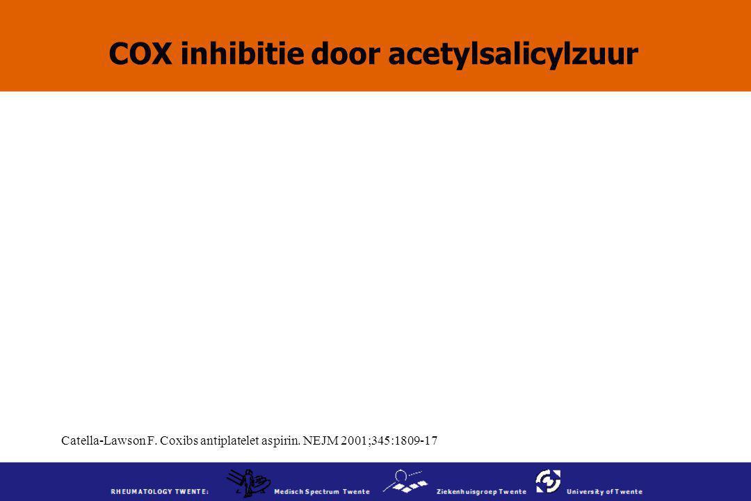COX inhibitie door acetylsalicylzuur