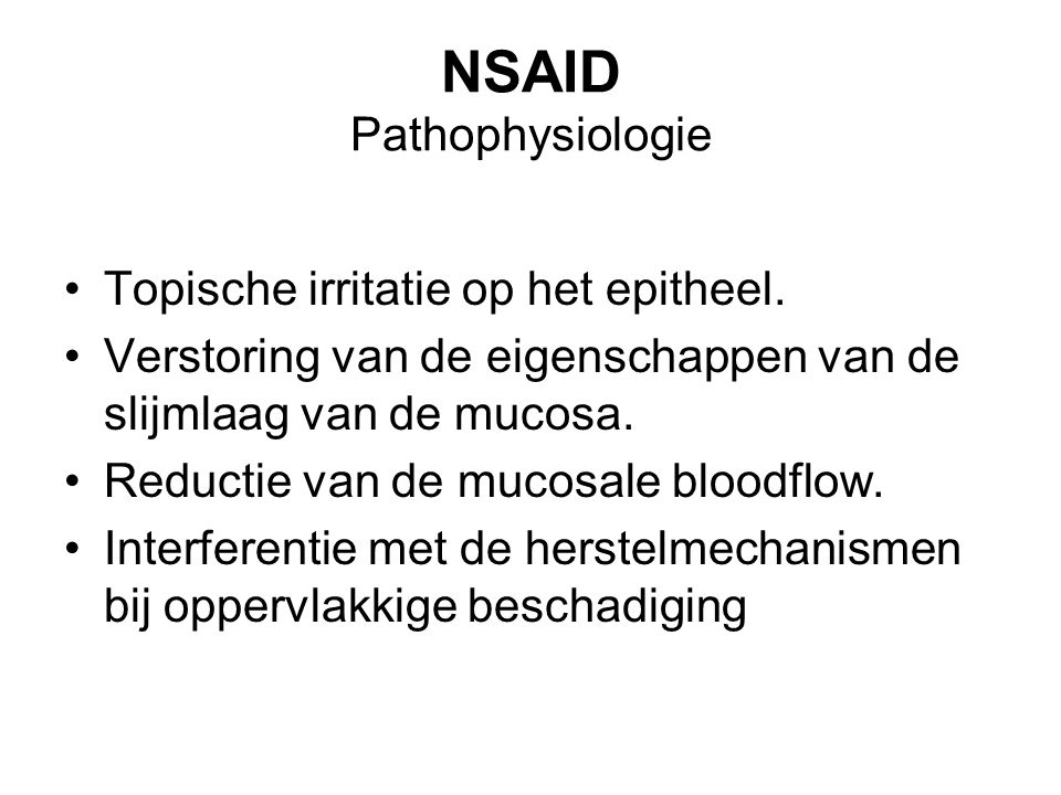 NSAID Pathophysiologie
