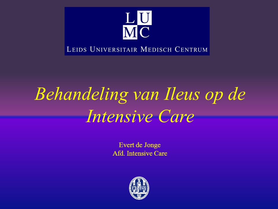 Behandeling van Ileus op de Intensive Care