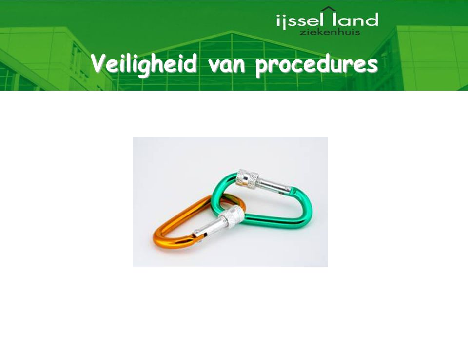 Veiligheid van procedures