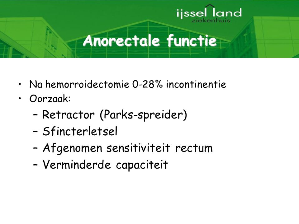 Anorectale functie Retractor (Parks-spreider) Sfincterletsel
