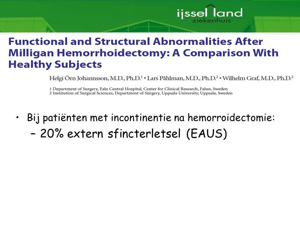 20% extern sfincterletsel (EAUS)