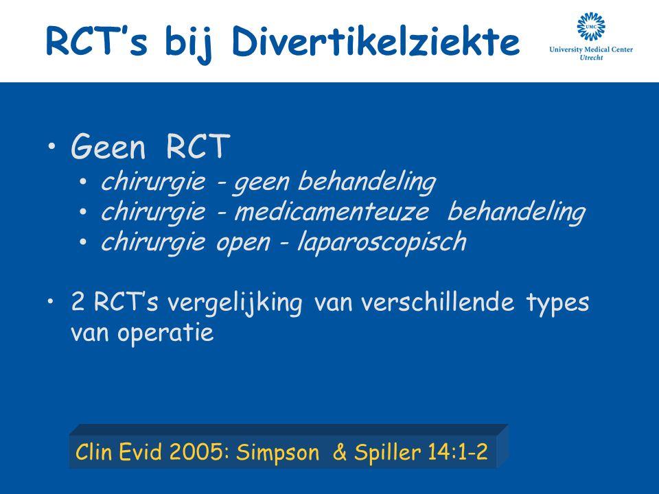 RCT's bij Divertikelziekte