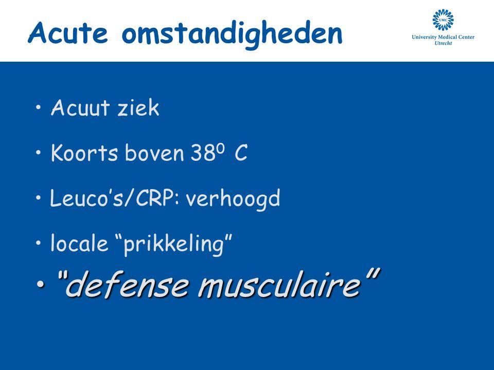 defense musculaire Acute omstandigheden Acuut ziek