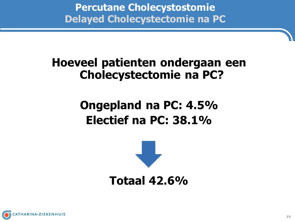 Percutane Cholecystostomie Delayed Cholecystectomie na PC