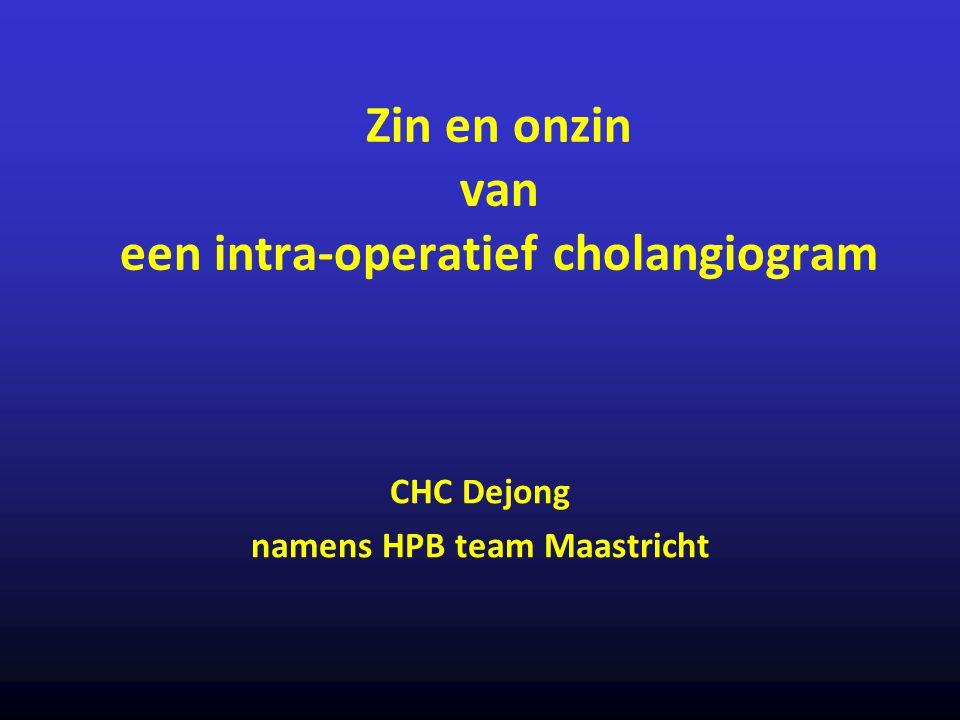 Zin en onzin van een intra-operatief cholangiogram