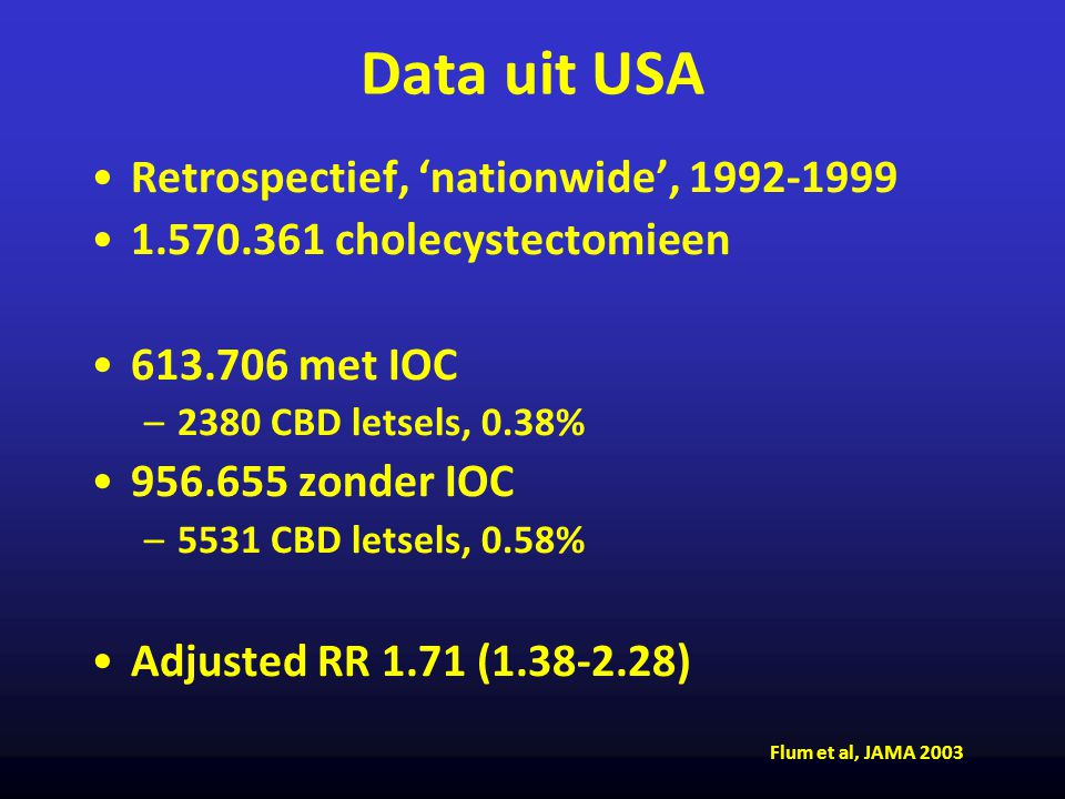 Data uit USA Retrospectief, 'nationwide', 1992-1999