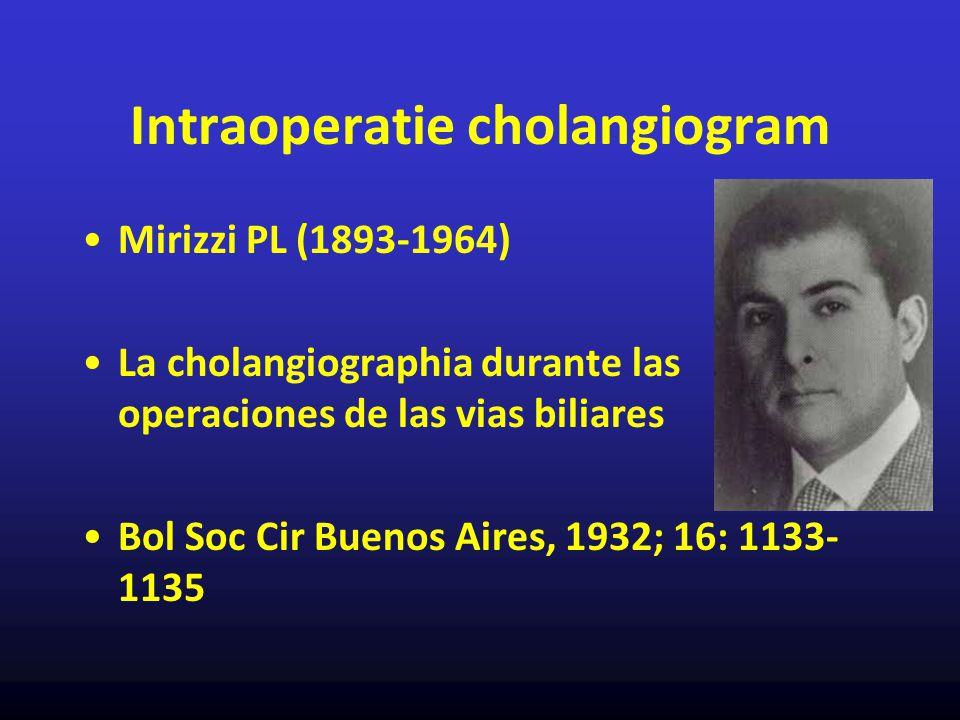 Intraoperatie cholangiogram