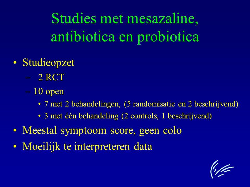 Studies met mesazaline, antibiotica en probiotica