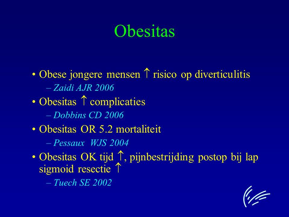 Obesitas Obese jongere mensen  risico op diverticulitis