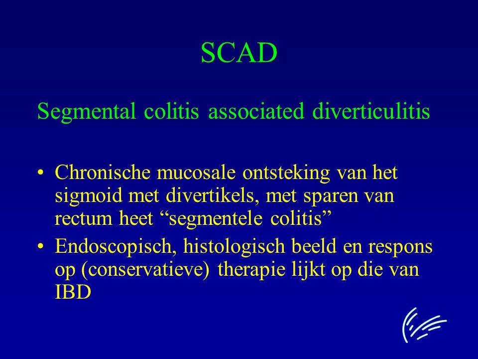 SCAD Segmental colitis associated diverticulitis