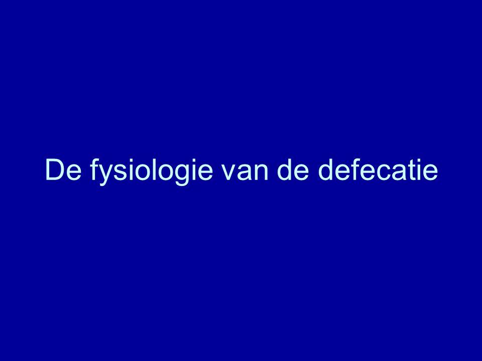 De fysiologie van de defecatie