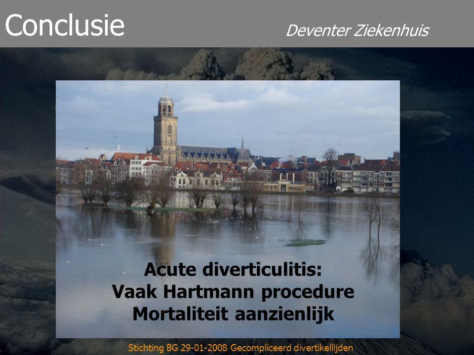 Acute diverticulitis: Vaak Hartmann procedure Mortaliteit aanzienlijk