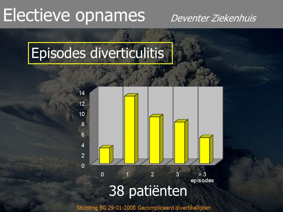 Stichting BG 29-01-2008 Gecompliceerd divertikellijden