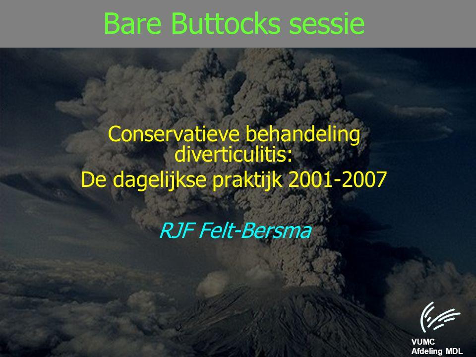 Bare Buttocks sessie Conservatieve behandeling diverticulitis: