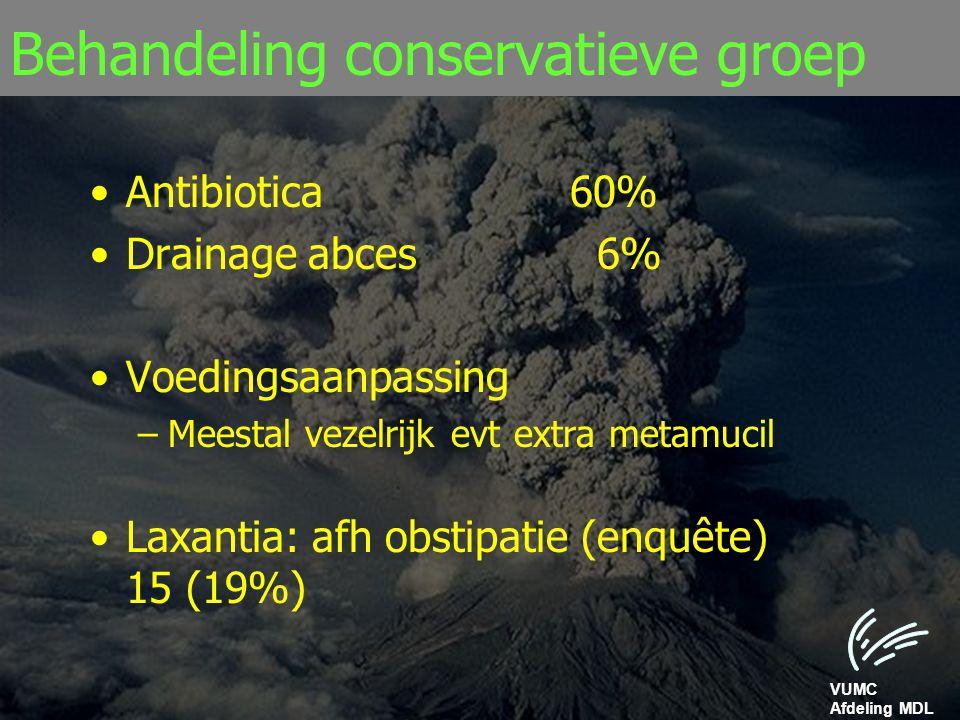 Behandeling conservatieve groep