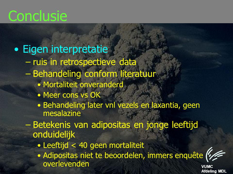 Conclusie Eigen interpretatie ruis in retrospectieve data
