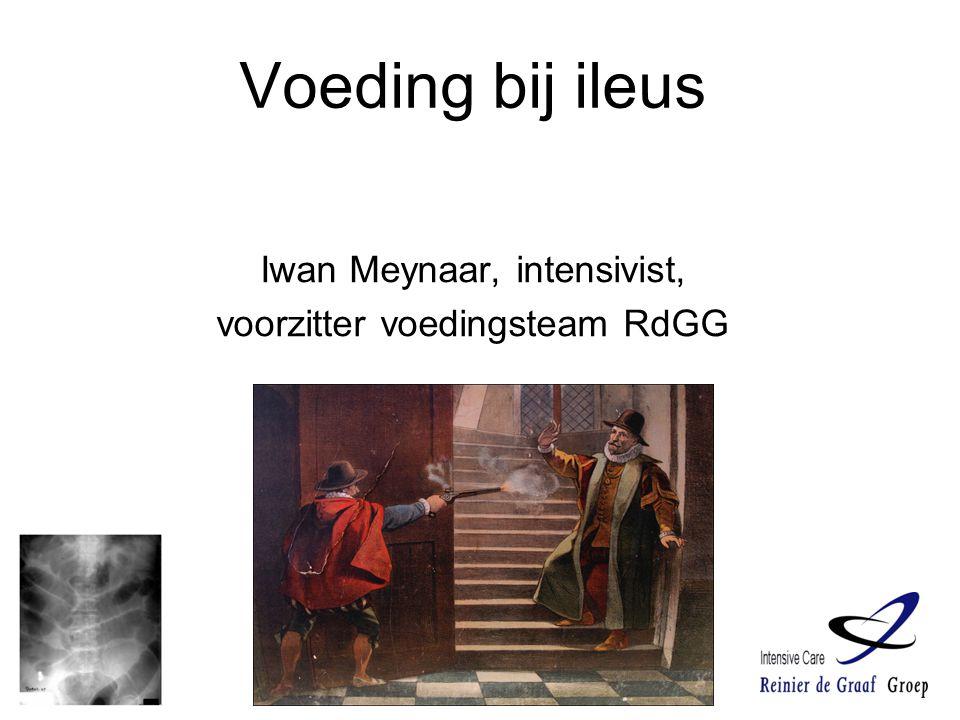 Iwan Meynaar, intensivist, voorzitter voedingsteam RdGG