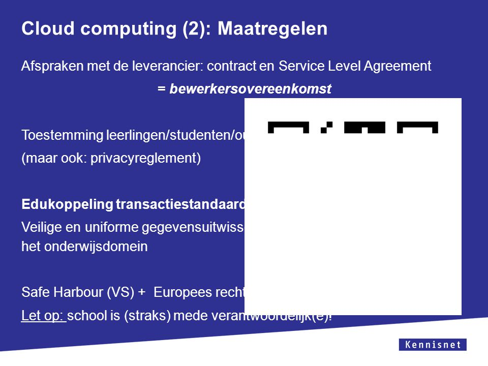 Cloud computing (2): Maatregelen