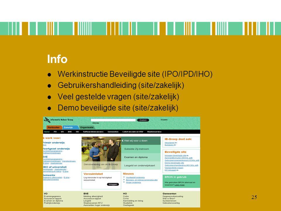 Info Werkinstructie Beveiligde site (IPO/IPD/IHO)