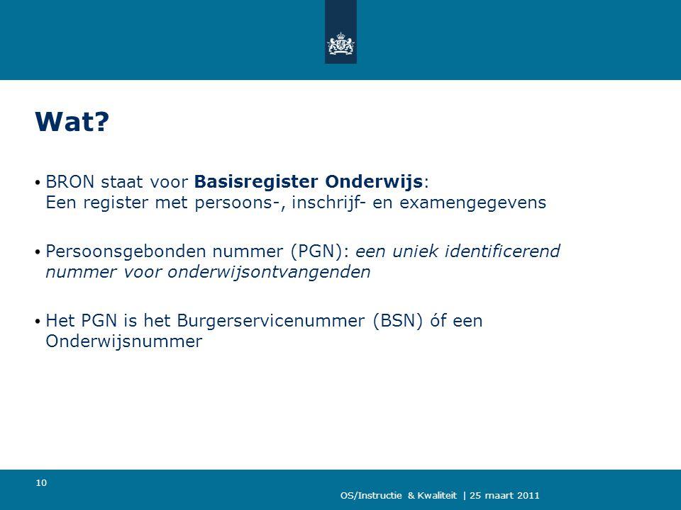 Wat BRON staat voor Basisregister Onderwijs: Een register met persoons-, inschrijf- en examengegevens.