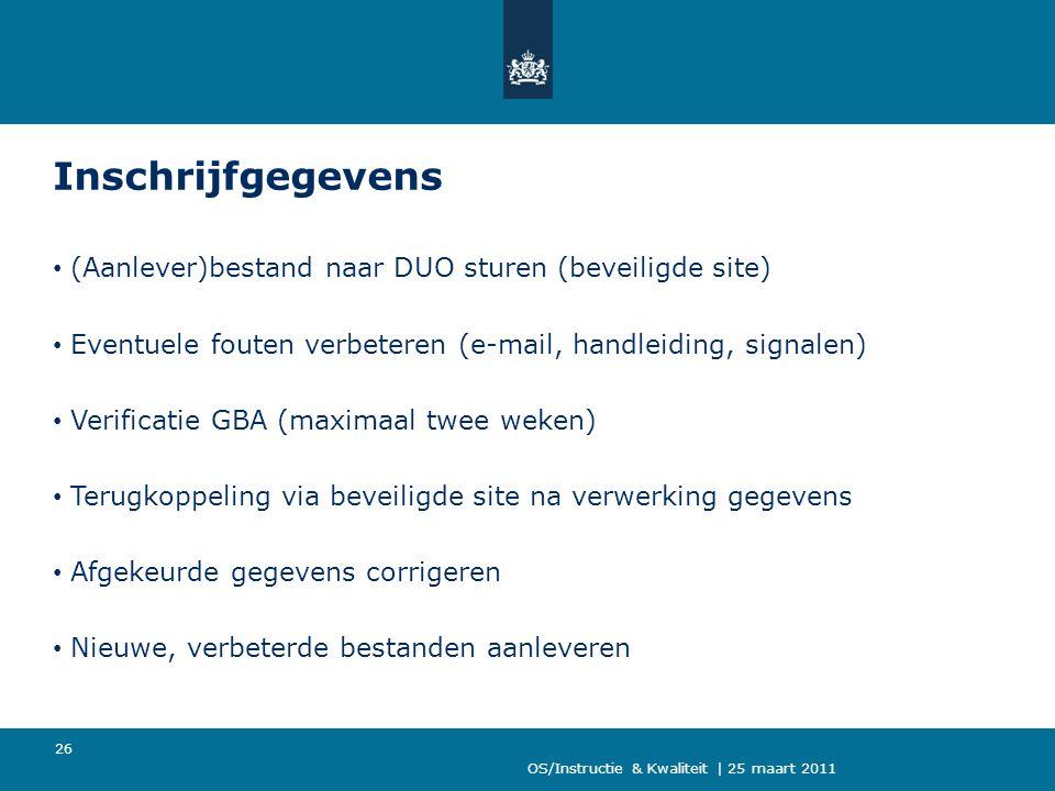 Inschrijfgegevens (Aanlever)bestand naar DUO sturen (beveiligde site)