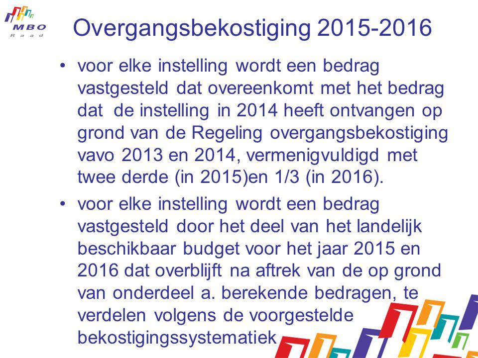 Overgangsbekostiging 2015-2016