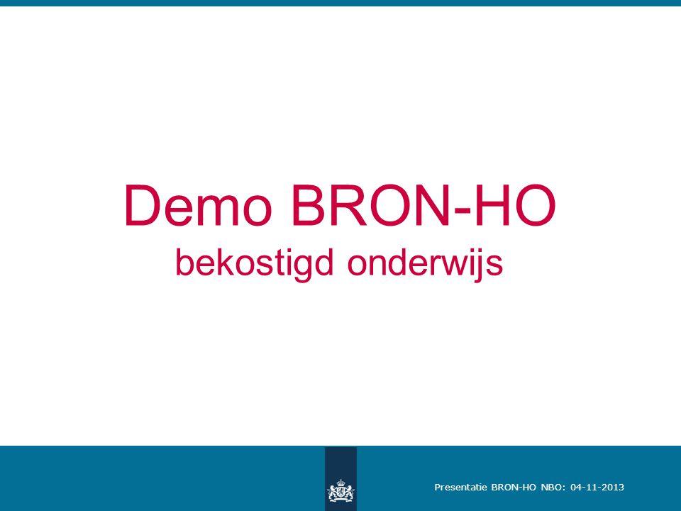 Demo BRON-HO bekostigd onderwijs