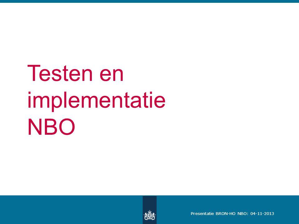 Testen en implementatie NBO