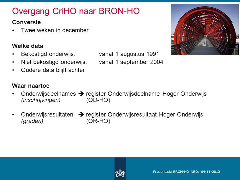 Overgang CriHO naar BRON-HO